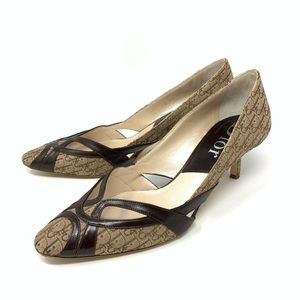 Dior Classic Monogram Heel Pumps